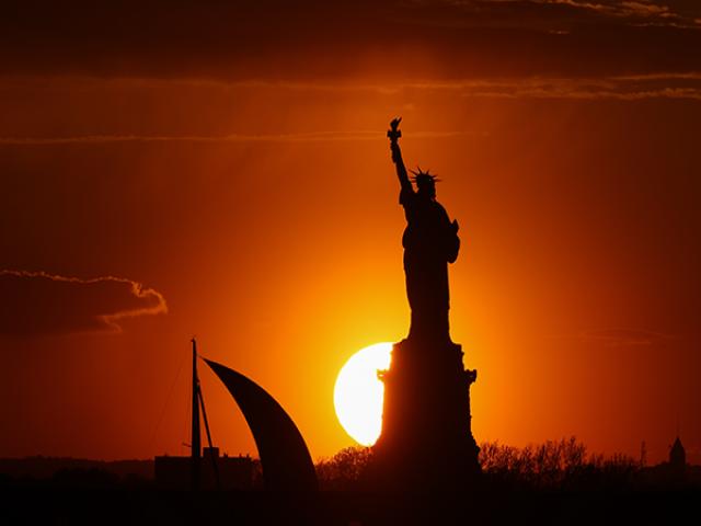 New York'ta Gün Batımı