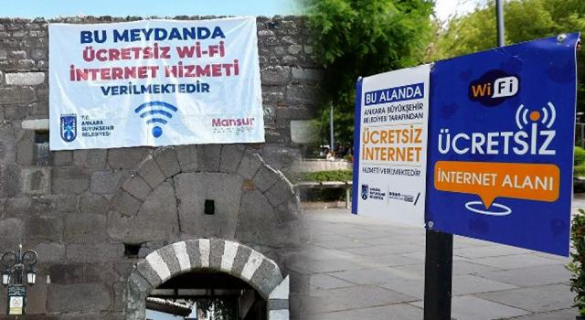 Ankara'da ücretsiz Wi-Fi hizmetinin verildiği meydan sayısı 27'ye yükseldi