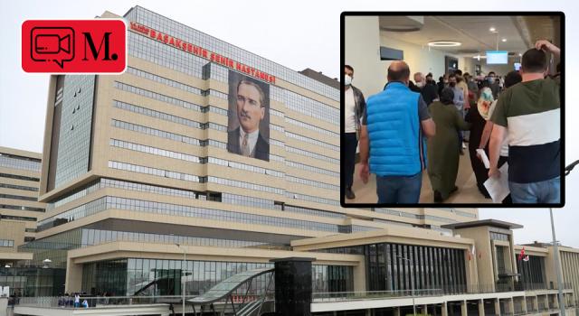Başakşehir Çam ve Sakura hastanesinde aşı kuyruğu