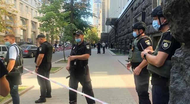 Ukrayna parlamento binasında canlı bomba paniği