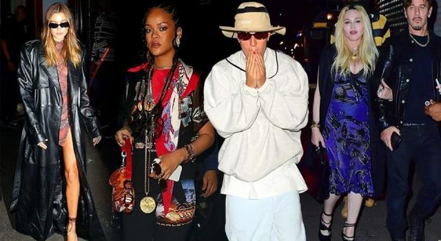 Rihanna, Madonna ve Justin Bieber yemekte buluştu