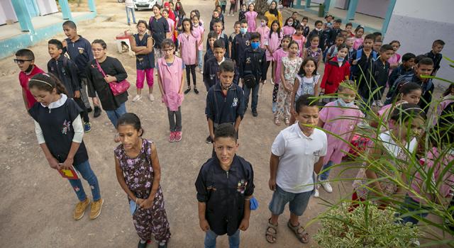Tunus'ta öğrenciler yeniden ders başı yaptı