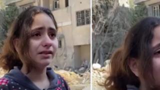 Evi bombalanan Filistinli küçük kız böyle dedi: Korkuyorum ve ağlıyorum