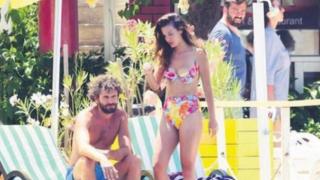 Pınar Deniz ile Yiğit Kirazcı tatilde