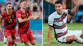 Ronaldolu Portekiz veda etti: Belçika çeyrek finalde