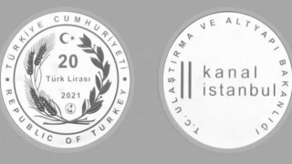 Kanal İstanbul için gümüş hatıra parası basıldı