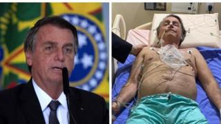 Kronik hıçkırığın incelenmesi için hastanede kalan Bolsonaro'dan ilk fotoğraf