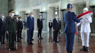 Erdoğan ve Yüksek Askeri Şûra üyelerinden Anıtkabir'e ziyaret