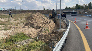 Ankara'da yol çalışmasında insan kemikleri bulundu
