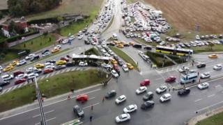 İstanbul'daki Formula 1 trafiği felç etti