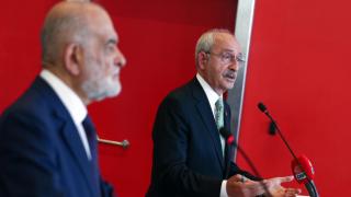 Kılıçdaroğlu, Temel Karamollaoğlu'nu ağırladı
