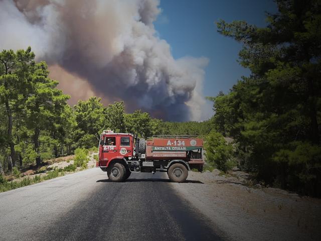 Manavgat'ta orman yangını yerleşim yerlerine sıçradı