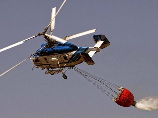 Helikopterlerimiz yangınla işte böyle mücadele ediyor